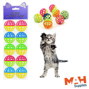 Cat Toy Jingle Balls With Bell Cat Kitten Chase Game Treat Play Chase Fun Toy