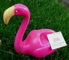 1 Pink Flamingo Watering Can Garden Plant Plastic Spout Flower Container Jug