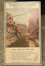 1950's HYDROSCOPE ROYAL GORGE COLORADO. SHORE STUDIOS ANTIQUE WEATHER POSTCARD