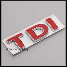 Adhesivo con el logotipo TDI insignia emblema Calcomanía Tapa Posterior Arranque Tronco Portón Trasero Rojo Coche 41r
