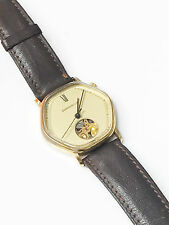 Caravelle Vintage Wind Up 1461.50 Swiss Made 17 Jewels Analog Brown Band Watch