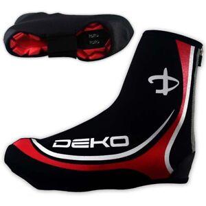 DEKO Waterproof Neoprene Cycling Shoe Covers Bike Cycle Overshoes Mens Red
