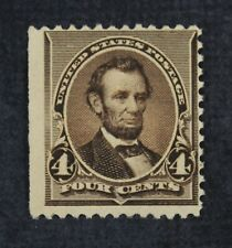 Ckstamps: Us Stamps Collection Scott#222 4c Lincoln Mint H Og Thin