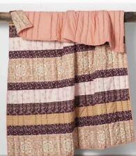 Opalhouse Peach Desert Rose Stripe Quilt Coverlet Twin /sham Set New