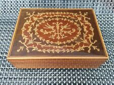 Vintage Lador Switzerland Wooden Music Box Swiss Mechanical Jewelry Box