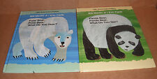 Panda Bear & Polar Bear What Do You See Anniversary Editions by Bill Martin NEW