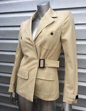 LES COPAINS Khaki Canvas Tailored Jacket Cargo Pants Suit $1295