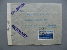 JAPAN censored cover to Germany 1940
