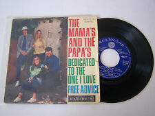 EP 4 TITRES VINYL 45 T , THE MAMA 'S AND THE PAPA 'S  . DEDICATED TO . VG / VG