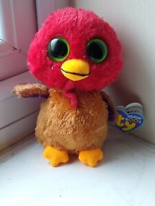 TY Beanie Boo Boos Thankful The Turkey With Hang Tag 2012 Rare