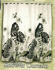 Tropical Floral Fabric Shower Curtain colorful Flora Hawaii Florida