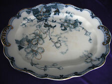 Stunning Blue & White Large Platter Sutton Ridgways 1880-1920