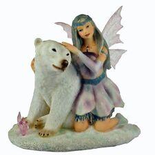 Faerie Glen Chryschill Retired Fairy w/ Polar Bear Figurine Premier Spirit  Asst