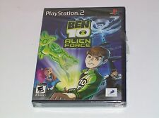 Ben 10 Alien Force Cartoon Network Playstation 2 PS2 Video Game NEW Rated E 10+
