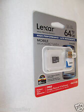 Lexar Mobile 64GB Class 10 MicroSDXC UHS-I Memory Card + USB 3.0 Card Reader