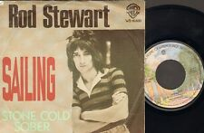 "Rod Stewart SAILING 2 track SINGLE  7"" Stone Cold Sober 1975"