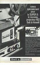 PUBLICITE ADVERTISING 1963  BELL & HOWELL projecteur super 8
