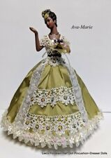 Porcelain Half Doll, Collectible Dresser Doll, Boudoir Doll, Miniature Doll