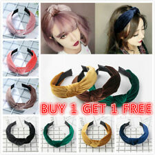 Women Velvet Cute Headband Alice Band Top Cross Knot Headband Twisted Hairband