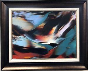 "Leonardo Nierman ""Birth of Light"" Original Painting on Masonite Board Rare"
