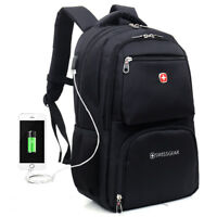 15.6 Laptop Backpack Swiss Business Casual Ruchsack Bag Schoolbag Gear Briefcase