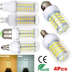 4x LED Ampoule de Maïs Base E27  B22 E14 G9 GU10 SMD5730 Blanc Chaud Blanc Froid