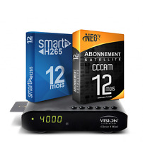 VISION Clever 4 HD Mini + Smart IPTV Subscr [H265] & Satellite & VOD 12 Month