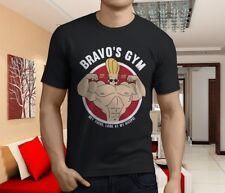 New Popular Johnny Bravo Bravos Gym Cartoon Men's Black T-Shirt Size S-3XL