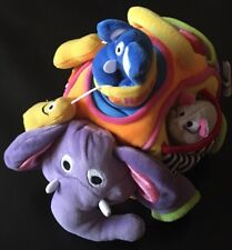 Early Years Purple Elephant Pockets Peanuts Mouse Baby Toy Plush Hide