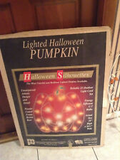 Vintage Halloween 1994 Light Up Outdoor Pumpkin With Orignal Box By Markee *RARE