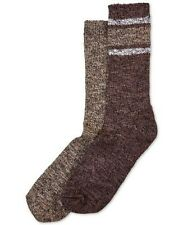 NWOT Women/'s Over The Knee Cotton Blend Socks One Size  3 Pair Brown #185A