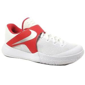 NIKE ZOOM LIVE Sneaker Size 17.5 MEN's 902590-160 White Red Silver