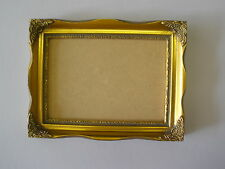 """7X5 SHABBY CHIC ORNATE 1""""  GOLD PICTURE FRAME"""