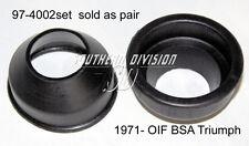 2 triumph OIF Fork dust cover 97-4002 t140 t150 160 tr7 a65 x75 fourche capuchons antipoussière