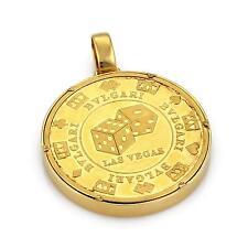 Bulgari Bvlgari Yellow Gold Plated Silver Las Vegas Roulette Wheel Pendant