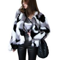 Winter Women Warm Faux Fur Jacket Coat Fluffy Outwear Casual Overcoat Plus Size