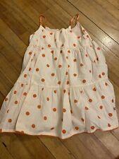 SOPHIE AND SAM 5T Girls Peach Polka Dot Lined Lightweight Sun Dress