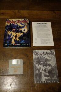 """IBM PC RISKY WOODS - ELECTRONIC ARTS ORIGINAL BIG BOX - 3.5"""" Français.1992"""