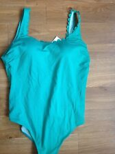 SWIMMING COSTUME SIZE 20 M&S SECRET SLIMMING NON WIRED PADDED GREEN FULLY LINED