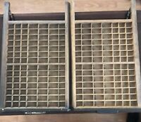 """Two Matching Vintage Wooden Printers Trays  28"""" X 18"""""""