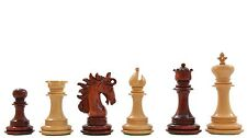 The Arabian Knight Artisan Staunton Chess Pieces in Bud Rose & Box Wood