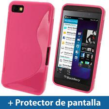 Rosa Funda TPU Gel para BlackBerry Z10 Smartphone Case Carcasa