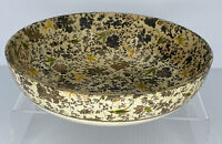 "Vintage Paper Mache Bowl Flower+Birds Design Alcohol Proof Highmount Quality 9"""
