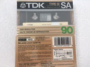 TDK SA Type II High Bias Cassette Tape 1987 Japan LOT of 2 NEW SEALED