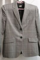 J. CREW Schoolboy Blazer Jacket Grey Wool Blend Black Buttons Women's Size 2 EUC