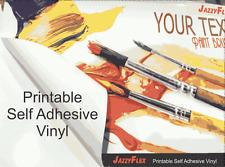 "JazzyFlex - Printable Self-Adhesive Vinyl (Sticker) - White Glossy. 50"" x 164'"