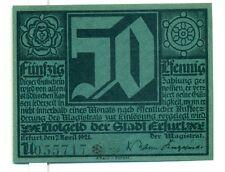 OLD GERMANY EMERGENCY PAPER MONEY - NOTGELD Erfurt 1921 Lutherjubilaum 50Pf U