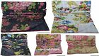 Indian Twin Kantha Quilt Reversible Floral Bedspread Blanket Bedding Throw Decor