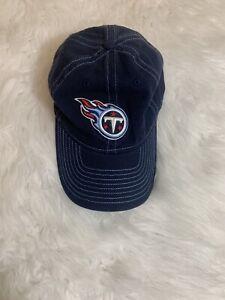 NFL Tennessee Titans Hat Cap Reebok Adjustable Strap back Blue