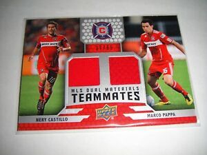2011 Upper Deck Soccer Nery Castillo / Marco Pappa Material Card Game Used /65